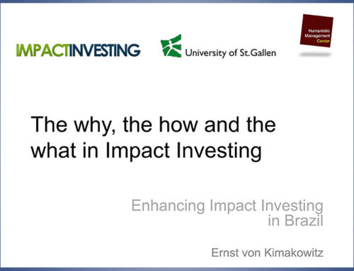 The Why, the How and the What in Impact Investing